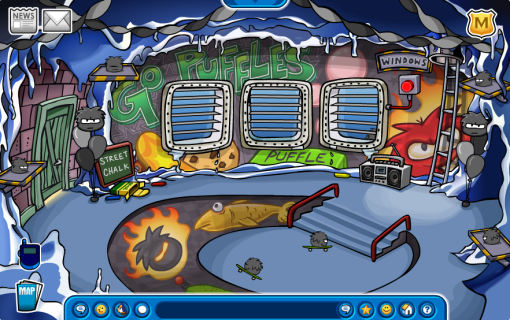 puffle-party-2009-cave
